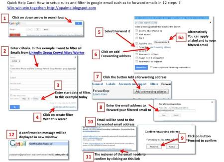 Setup rules & filters in Googlemail