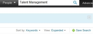 Linkedin Search Results Sort by Keywords